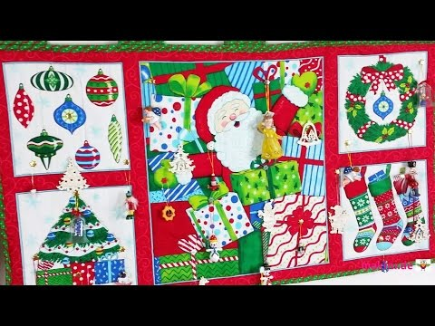 DIY-Adventskalender aus einem Patchwork-Panel
