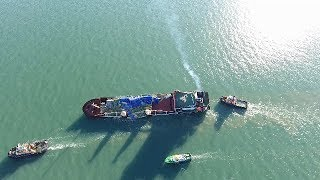 Russian ship in trouble off the Isle of Wight