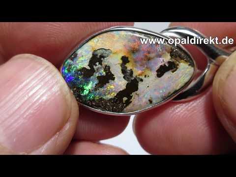 Opal Anhänger in Silber 000840 a