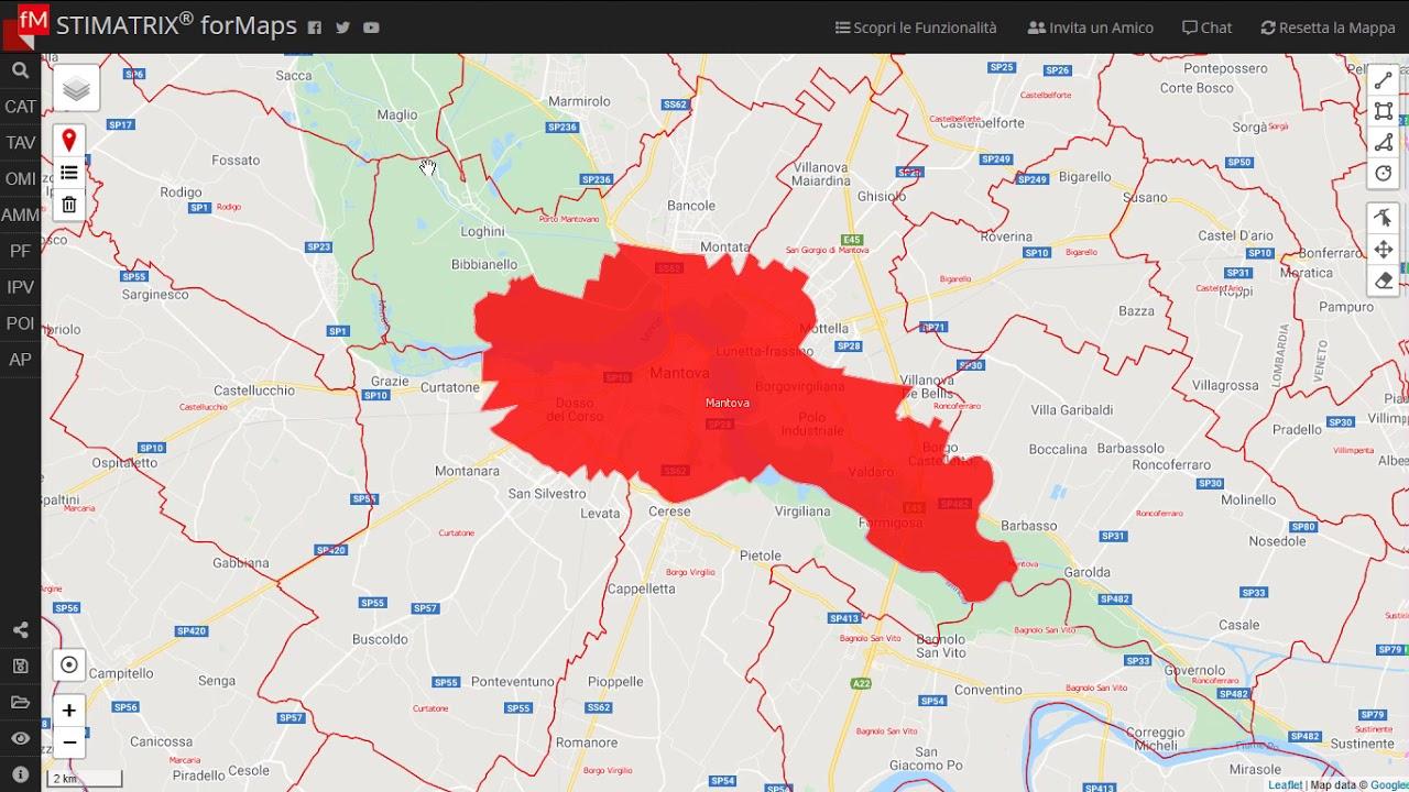 Evidenziare i confini comunali su mappa con STIMATRIX® forMaps