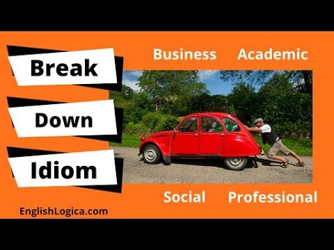 Break Down - Phrasal Verb