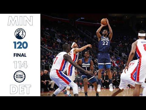 Highlights | Timberwolves 120, Pistons 114 (11.11.19)