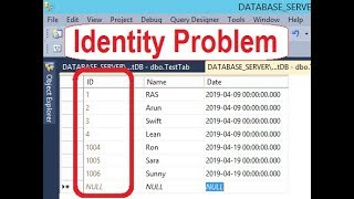 Solved Identity Not Working in SQL Server 2014/ 12/ 17. Identity jumped 1000.