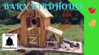 How To Make A Barn Birdhouse