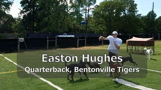 Easton Hughes, Quarterback of the Bentonville Tigers, joins the DFL