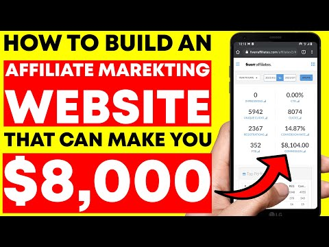 How To Build An Affiliate Marketing Website & Make $8000 With PROOF!