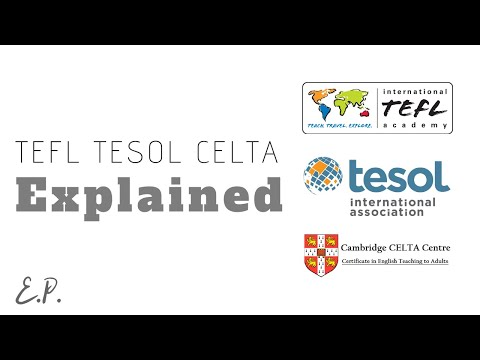 TEFL TESOL CELTA Difference Explained. Which one is the best for ...