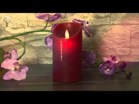 LED-Wachskerze Twinkle Flame, Farbe: rot Artikel-Nr.:067-49 www.deko-welten.de