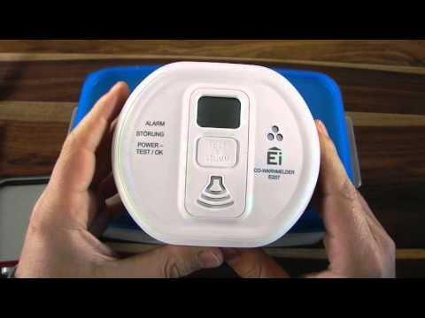 CO-Melder mit Kohlenmonoxid testen