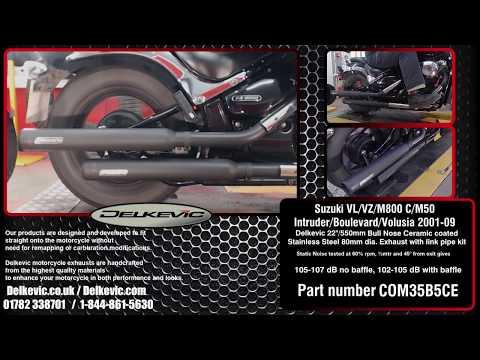 Suzuki VL800 M800 Vance and Hines Exhaust Slashcuts - смотреть