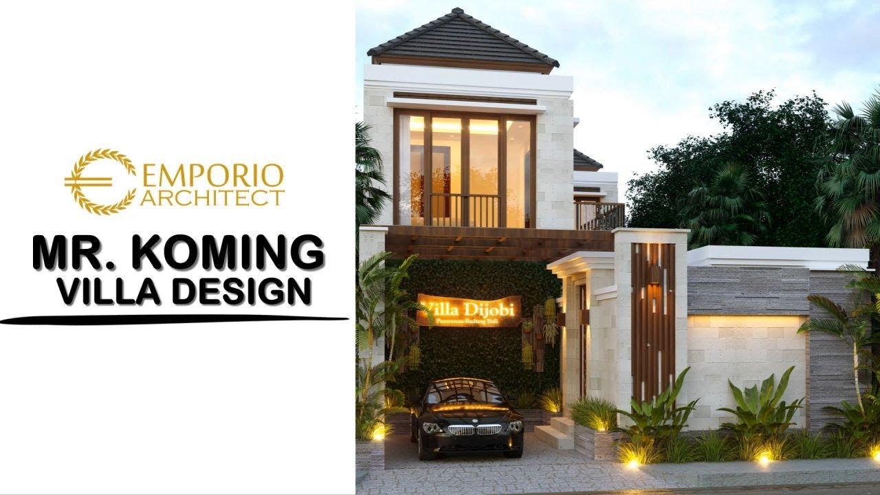 Video 3D Mr. Koming Villa Bali House 2 Floors Design - Mengwi, Badung, Bali