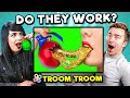 Adults React To and Try Troom Troom Hacks and 5-Minute Crafts To See If They Actually Work