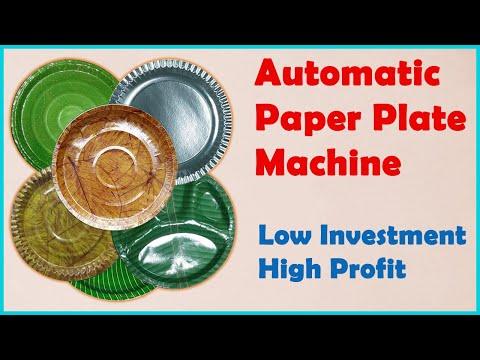 Single Die Paper Plate Making Machine