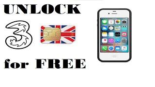 Unlock Three Phone - Free Unlock Three UK Network
