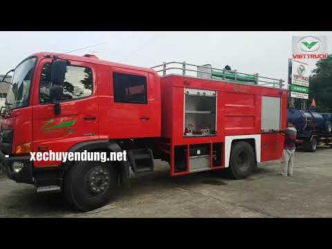 Xe chữa cháy hino FG 6 khối (6m3) FG8JJSB 5 khối nước 1 khối bọt