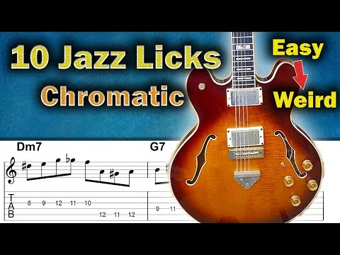 10 Great Chromatic Ideas in Jazz Licks (Easy to Weird)
