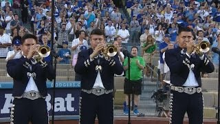 Mariachi band plays national anthem