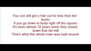 What's Left Of A Small Town - Brantley Gilbert (Lyrics On Screen)