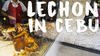AMERICANS EAT THE BEST LECHON IN CEBU PHILIPPINES