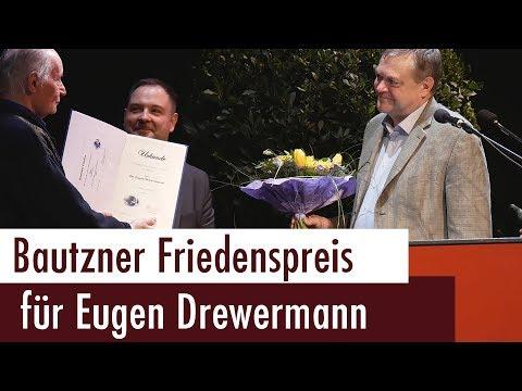 Eugen Drewermann erhält Bautzner Friedenspreis 2018