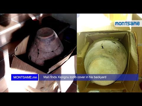 Man finds Xiongnu tomb cover in his backyard