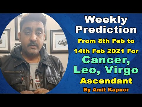 Weekly Prediction From 8th Feb to 14th Feb 2021 For Cancer, Leo, Virgo Ascendant (In English)