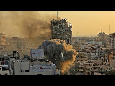 Gaza : une journaliste surprise en plein direct par l'effondrement d'un immeuble Gaza : une journaliste surprise en plein direct par l'effondrement d'un immeuble