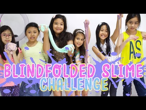 BLINDFOLDED SLIME CHALLENGE WITH MY SCHOOL MATE ❤