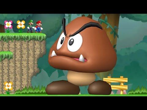 Newer Super Mario Bros Wii Co-Op Walkthrough - Mini-Mega Island