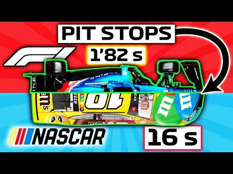 PIT STOP 💥 ¿El MÁS RÁPIDO? FORMULA 1 vs NASCAR 🔥 vs INDYCAR vs FORMULA E vs WEC *Repostajes* | F1