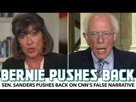 Bernie Pushes Back On CNN's False Narrative