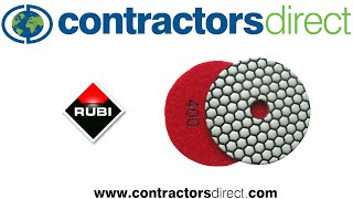 How to Polish Marble Edges with Rubi Polishing Pads From Contractors Direct