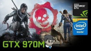 """970M Gaming \ """"Rise of the Tomb Raider"""" """"Need For Speed"""" and More  #2"""