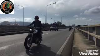 preview picture of video 'Royal Enfield Thailand Southern ...Pakpanang Trip 11Nov18...Wind turbine Wind of change'