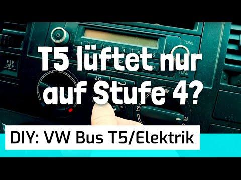 Schritt für Schritt Anleitung: VW T5 Transporter (BJ 2009) / Widerstand vom Gebläsemotor wechseln