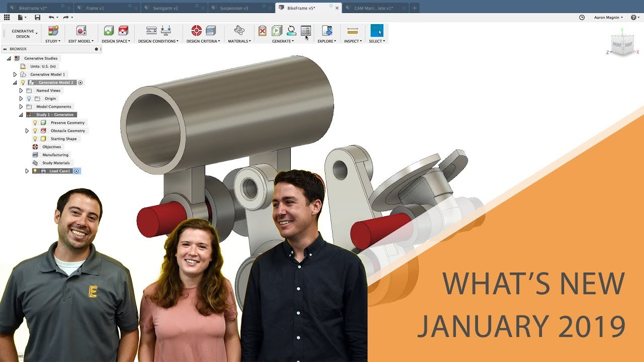 What's New in Fusion 360 January 2019 Update