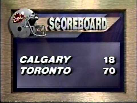 CFL 1990: Argonauts blast Stampeders 70-18 in game delayed because of turf issues