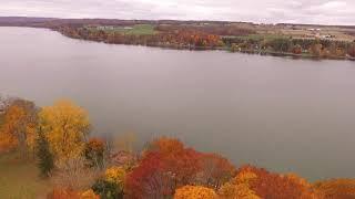 DJI Phantom 3 Standard Fall Colors at Silver Lake NY Part 2
