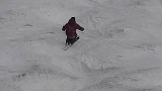 月山 ラインコブ 滑り方 桑原竜司 後ろからスーパースロー