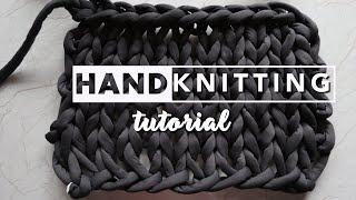 How To Hand Knit   Easy Tutorial For Beginners