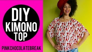 DIY AFRICAN PRINT KIMONO TOP IN 15MIN   NO SEWING PATTERN   DIY CLOTHES