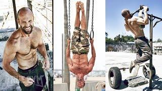 Так тренируется звезда боевиков Джейсон Стетхэм / Турник, брусья и отжимания