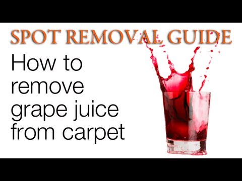 Carpet Cleaning Tip How To Remove Grape Juice Stains From