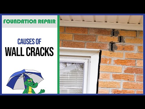🐊Causes of Wall Cracks | Foundation Repair