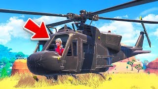 The HELICOPTER Challenge in Fortnite!