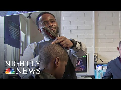 Elementary School Principal Styles Students With Free Haircuts And Life Lessons | NBC Nightly News