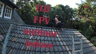 FPV crazy test flight indoor outdoor Dji FPV (S Mode)