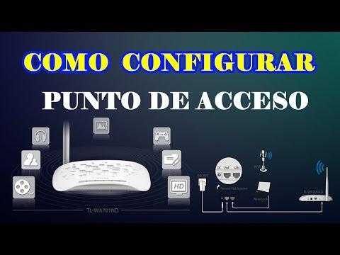 CONFIGURAR PUNTO DE ACCESO INALAMBRICO TP-LINK TL-WA701ND