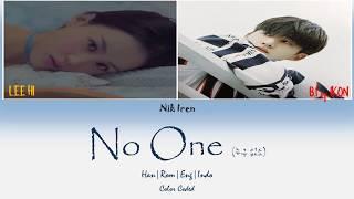 Lee Hi - No One (누구 없소) Feat. B.I of iKON (Sub Indo)