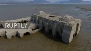 Mexico: Drone captures submerged 16th century church revealed by drought